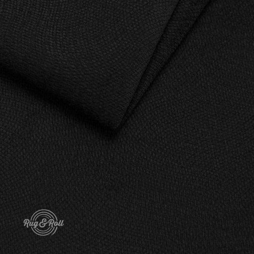 LOCA 23 - fekete, nyomott mintás vízzel tisztítható bútorszövet