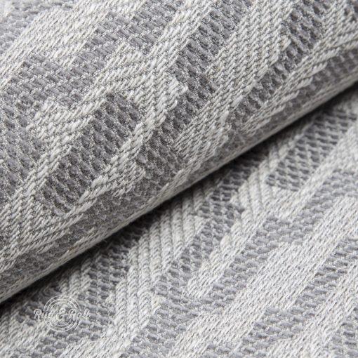 AZTECO 2 - szürke, azték mozaik mintás, síkszövet, 10% lentartalommal
