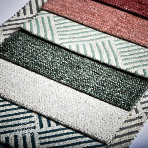 MODELLO mintás, környezetbarát bútorszövet, 5 színben