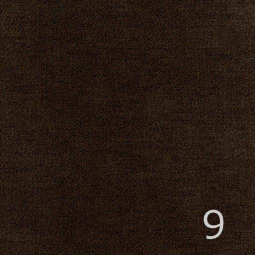 ALFA 9 - sötétbarna, puha felületű, magas kopásállóságú  bútorszövet