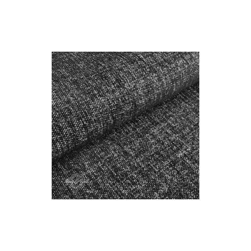 Tessero 1 - fekete, zseníliás felületű, puha kellemes tapintású bútorszövet