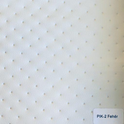 PIK 02 - nagykockás, steppelt, textilbőr bútorszövet, fehér