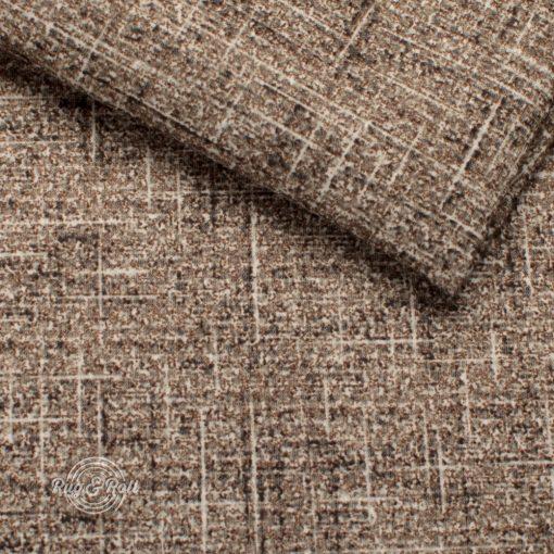 BATUMI 5506 - barna, bársonyos tapintású, modern, extravagáns megjelenésű bútorszövet