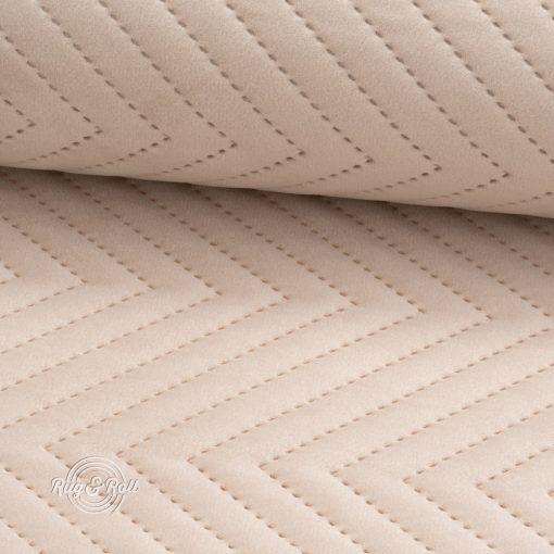 AMOR PIK 4304 - világos bézs, nyomott mintás, vízlepregető prémium bútorszövet