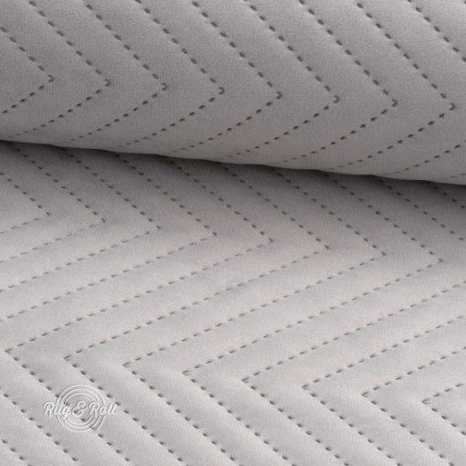 AMOR PIK 4318 - halványszürke, nyomott mintás, vízlepregető prémium bútorszövet
