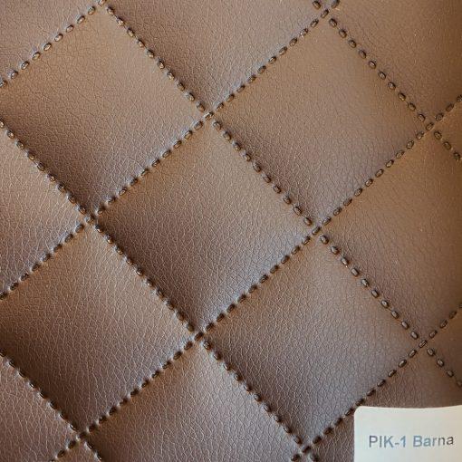 PIK 01 - kiskockás, steppelt textilbőr bútorszövet, barna