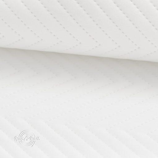 AMOR PIK 4317 - fehér, nyomott mintás, vízlepregető prémium bútorszövet