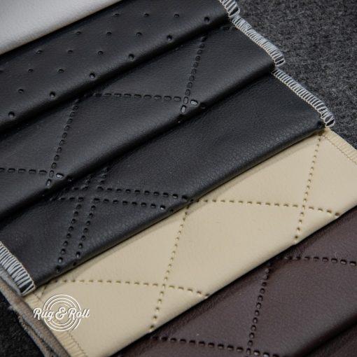 PIK 01 - kiskockás, steppelt textilbőr bútorszövet, 4 színben
