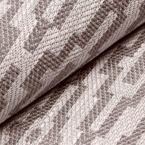 AZTECO 6 - barna, azték mozaik mintás, síkszövet, 10% lentartalommal