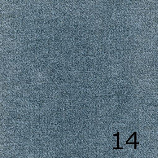 ALFA 14 - világoskék, puha felületű, magas kopásállóságú  bútorszövet
