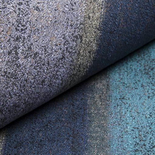 RIGATTO 2-türkizkék bronzzal átszőtt, mintás, légáteresztő modern bútorszövet