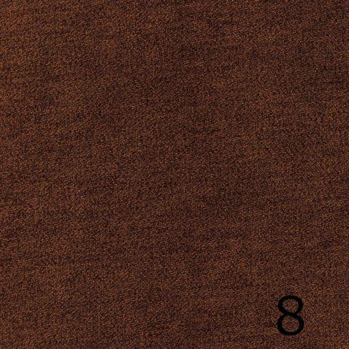 ALFA 8 - barna, puha felületű, magas kopásállóságú  bútorszövet