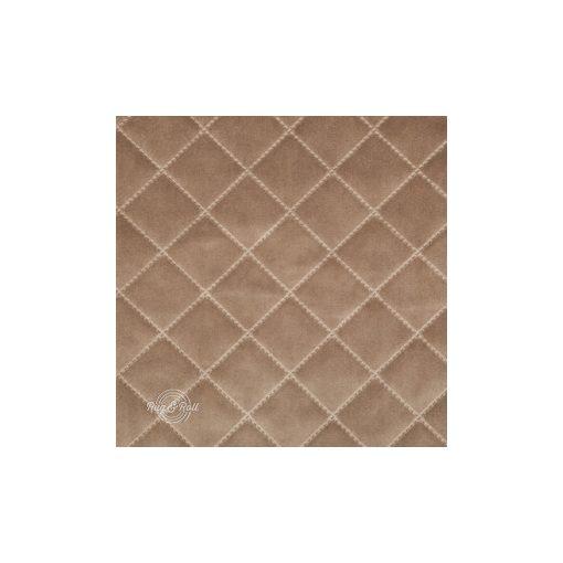 Salvador Caro 3 - homokszín, könnyen tisztítható, steppelt, kárómintás bársony bútorszövet