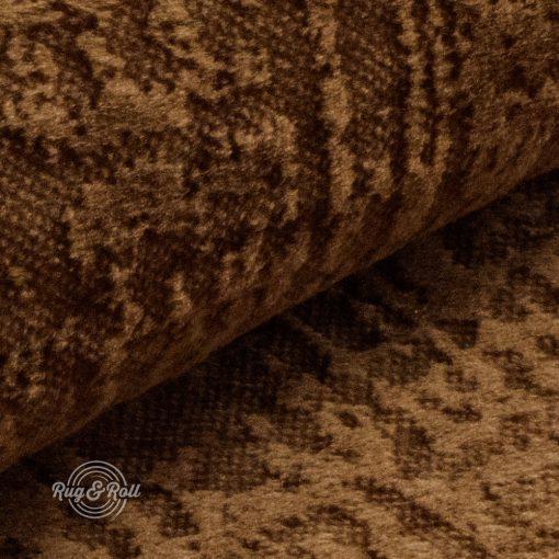 Velvetto 16- világosbarna, fényes nyomott mintás, magas kopásállóságú bársony bútorszövet