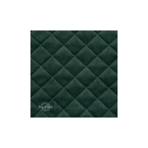 Salvador Caro 7 - sötétzöld, könnyen tisztítható, steppelt, kárómintás bársony bútorszövet