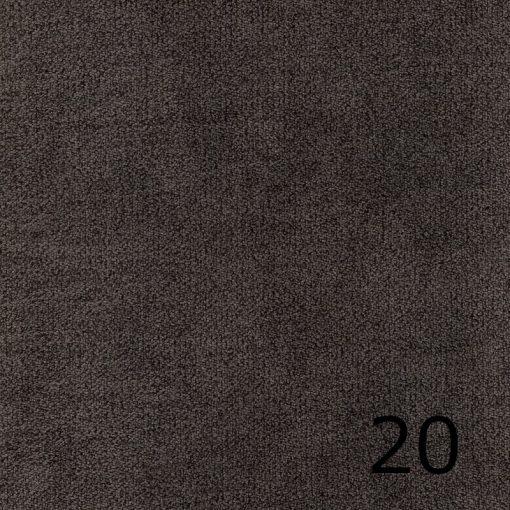 ALFA 20 - grafitszürke, puha felületű, magas kopásállóságú  bútorszövet