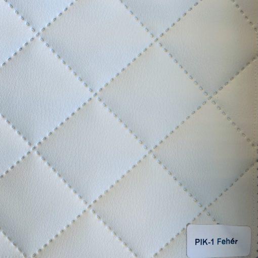 PIK 01 - kiskockás, steppelt textilbőr bútorszövet, fehér