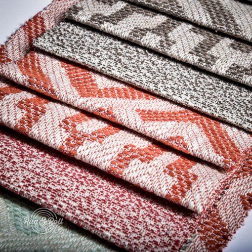 AZTECO azték mozaik mintás, síkszövet, 10% lentartalommal, 6 színben
