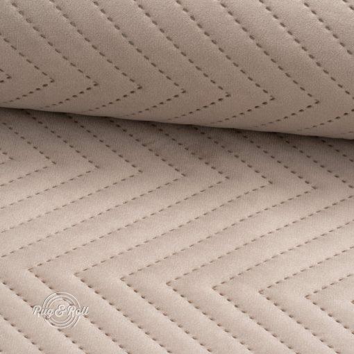 AMOR PIK 4303 - bézs, nyomott mintás, vízlepregető prémium bútorszövet