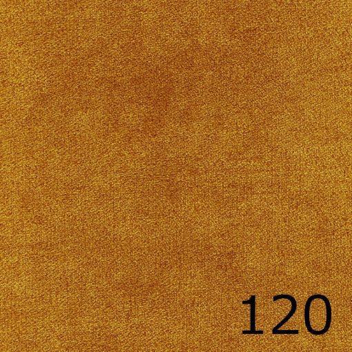 ALFA 120 - mustársárga, puha felületű, magas kopásállóságú  bútorszövet
