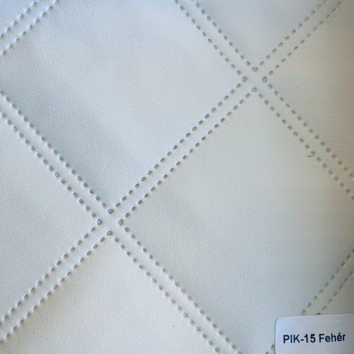 PIK 15 - nagykockás, steppelt, textilbőr bútorszövet, fehér