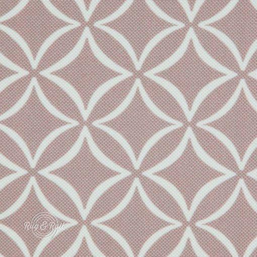 EVO 28 - mályva geometrikus mintás bútorszövet