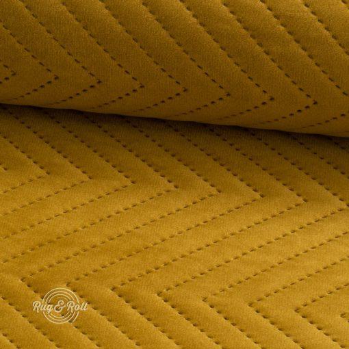 AMOR PIK 4310 - sárgászöld, nyomott mintás, vízlepregető prémium bútorszövet