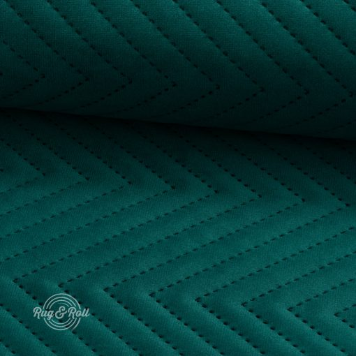 AMOR PIK 4312 - sötét türkizzöld, nyomott mintás, vízlepregető prémium bútorszövet