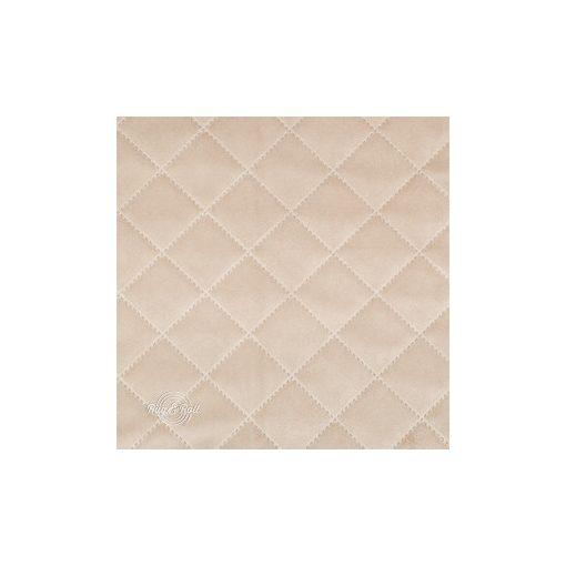 Salvador Caro 2 - bézs, könnyen tisztítható, steppelt, kárómintás bársony bútorszövet