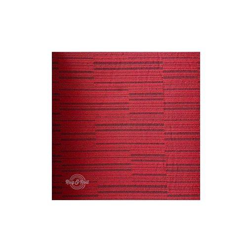 Autokárpit 472-15 piros, fekete mintás autókárpit szivacsos hátoldallal
