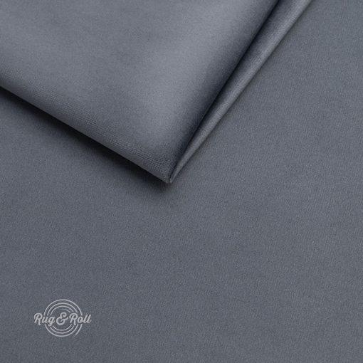 AMOR VELVET 4320 - középszürke, vízlepregető prémium bútorszövet