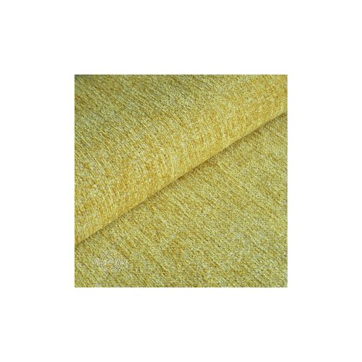 Tessero 9 - sárga, zseníliás felületű, puha kellemes tapintású bútorszövet