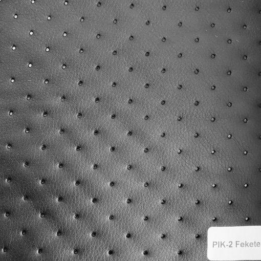 PIK 02 - nagykockás, steppelt, textilbőr bútorszövet, fekete
