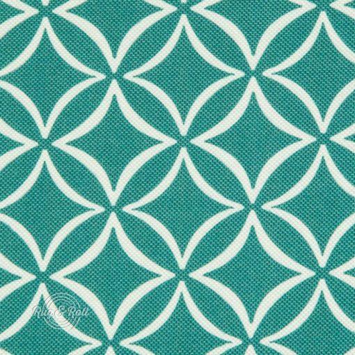 EVO 30 - türkiz, geometrikus mintás bútorszövet, türkiz