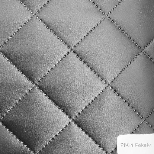 PIK 01 - kiskockás, steppelt textilbőr bútorszövet, fekete