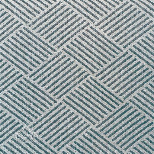 MODELLO 5 - türkiz, mintás, környezetbarát bútorszövet