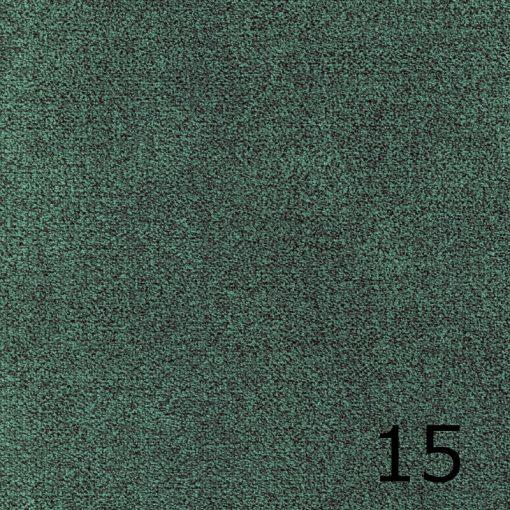 ALFA 15 - türkiz, puha felületű, magas kopásállóságú  bútorszövet