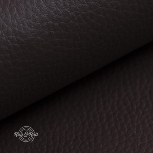 DOLLÁR 18 - sötétbarna, valódi bőr hatású, erezett felületű műbőr
