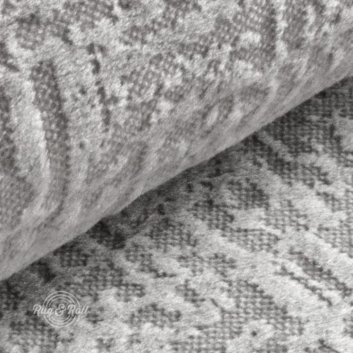 Velvetto 4 - halványszürke, fényes nyomott mintás, magas kopásállóságú bársony bútorszövet