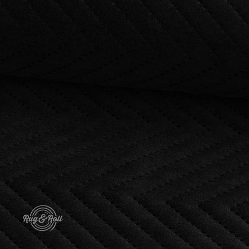 AMOR PIK 4322 - fekete, nyomott mintás, vízlepregető prémium bútorszövet