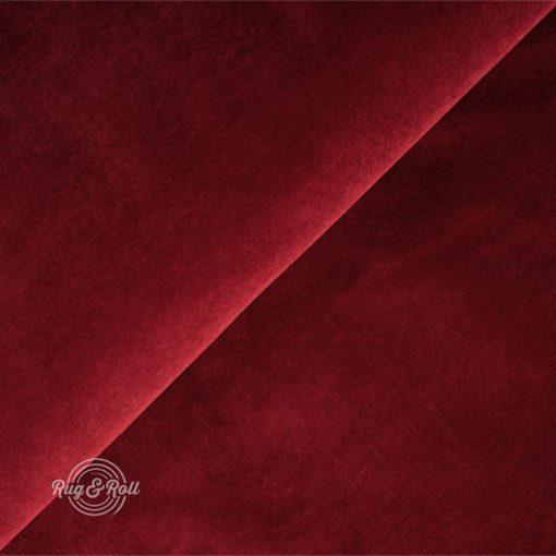 Salvador 13 - sötétpiros, könnyen tisztítható, prémium bársony bútorszövet