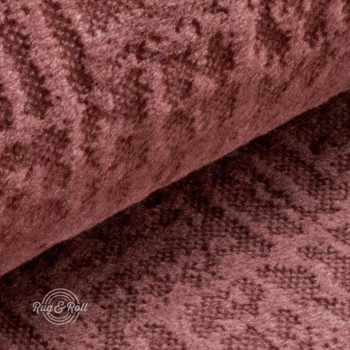 Velvetto 17 - mályva, fényes nyomott mintás, magas kopásállóságú bársony bútorszövet