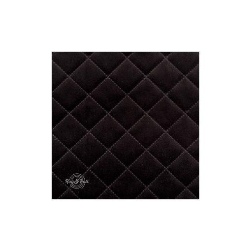 Salvador Caro 19 - fekete, könnyen tisztítható, steppelt, kárómintás bársony bútorszövet