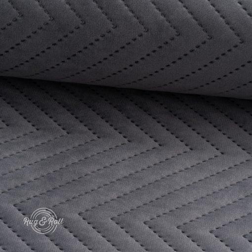 AMOR PIK 4321 - sötétszürke, nyomott mintás, vízlepregető prémium bútorszövet