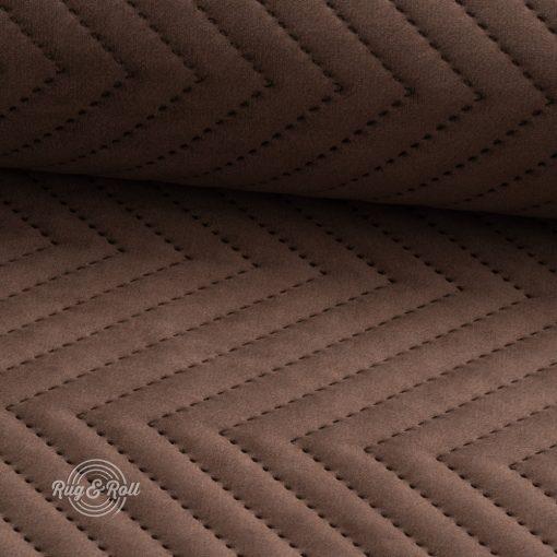 AMOR PIK 4301 - barna, nyomott mintás, vízlepregető prémium bútorszövet