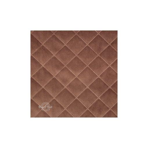 Salvador Caro 4 - hamvas barna, könnyen tisztítható, steppelt, kárómintás bársony bútorszövet