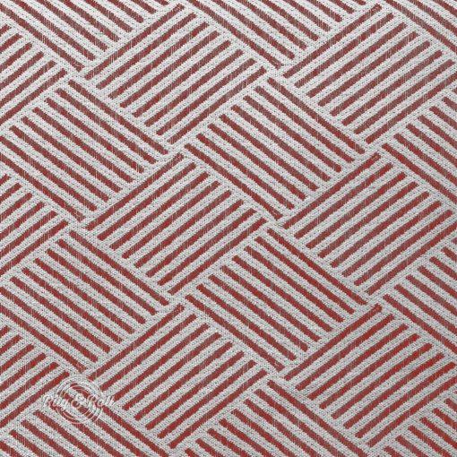 MODELLO 4 - piros, mintás, környezetbarát bútorszövet