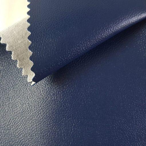 Non Plus 525-sötétkék, extrém kopásállóságú, fertőtleníthető, színes prémium textilbőr