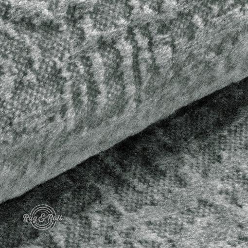 Velvetto 5 - középszürke, fényes nyomott mintás, magas kopásállóságú bársony bútorszövet