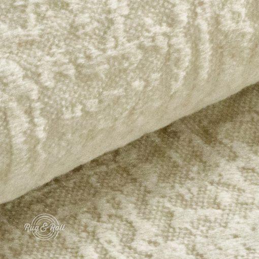 Velvetto 1 - krém, fényes nyomott mintás, magas kopásállóságú bársony bútorszövet